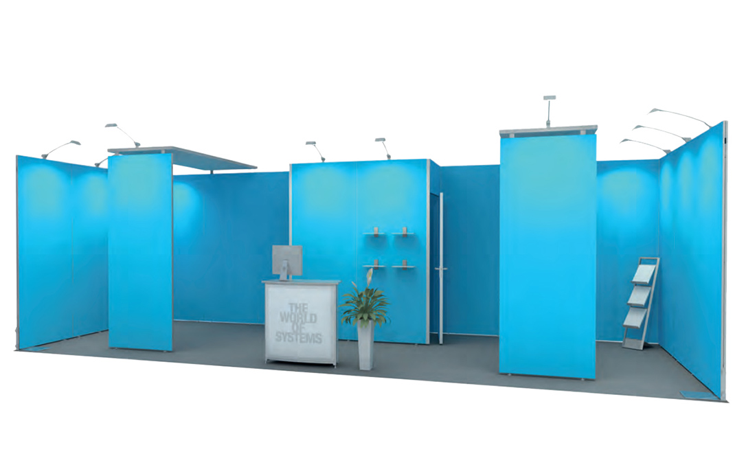 Inline Exhibit with closet and ceiling 8x3